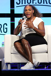 """Tennis Great SERENA WILLIAMS Speaks At """"Shop.Org"""" American Express Stage Sands Expo Center Las Vegas, Nv September 14, 2018. 14 Sep 2018 Pictured: Serena Williams. Photo credit: KWKC/MEGA TheMegaAgency.com +1 888 505 6342"""