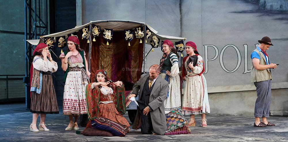 23nd June 2017.Il Turco in Italia, Rossini  at Garsignton Opera. <br /> <br /> Zaidi - Katie Bray<br /> Albazar Jack Swanson<br /> Don Geronio - Geoffrey Dolton