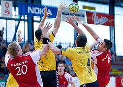 David Kovac (4) of Slovan at handball match of MIK 1st Men league between RD Slovan and RK Gorenje Velenje, on May 16, 2009, in Arena Kodeljevo, Ljubljana, Slovenia. Gorenje won 27:26. (Photo by Vid Ponikvar / Sportida)