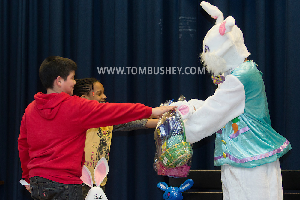 Middletown, New York - Children participate in Easter-themed activities at the Middletown YMCA's Center for Youth Programs on April 4, 2015.