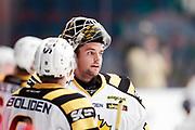 STOCKHOM 2017-10-27: Gustaf Lindvall, m&aring;lvakt i Skellefte&aring; AIK inf&ouml;r matchen i SHL mellan Djurg&aring;rdens IF och Skellefte&aring; AIK p&aring; Hovet, Stockholm, den 27 oktober 2017.<br /> Foto: Nils Petter Nilsson/Ombrello<br /> ***BETALBILD***