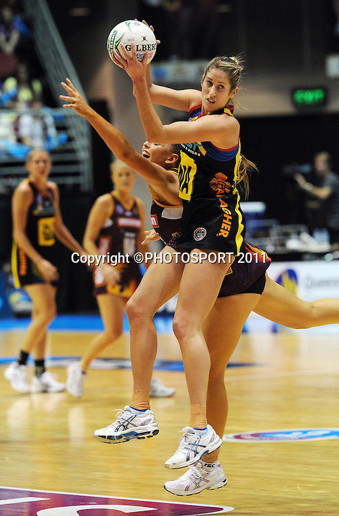BOP Magic Wing attack Jessica Tuki.<br /> ANZ Netball Championship, Queensland Firebirds v BOP Magic, Semi Final. Gold Coast Convention Centre, Gold Coast, Australia, Monday 9 May 2011. Photo: Andrew Cornaga/photosport.co.nz