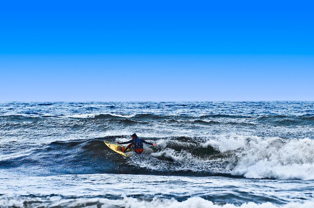 Surfing in Jingshan, Taiwan, just northeast of Taipei