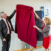 24.03.2017            <br /> Limerick Civic Trust, Marjorie Daly commissioned Jim Kemmy Portrait unveiling by Jan O'Sullivan TD at the Kemmy Business School, University of Limerick. <br /> <br /> Pictured at the event were, Dr. Philip O'Regan, Dean of Kemmy Business School, UL and Jan O'Sullivan, TD. Picture: Alan Place