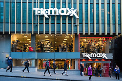 Exterior of TK MAxx discount store in Edinburgh, Scotland, United Kingdom