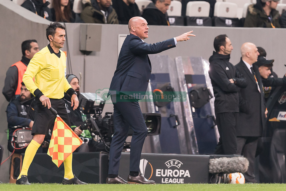 coach Uwe Rosler of Malmo FF during the UEFA Europa League group I match between between Besiktas AS and Malmo FF at the Besiktas Park on December 13, 2018 in Istanbul, Turkey