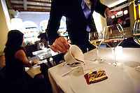 service in the lounge of the restaurant Daniel, of Daniel Boulud, NYC