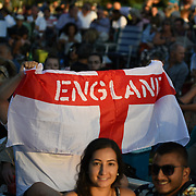 England fan watching England vs Croatia at Kew Garden