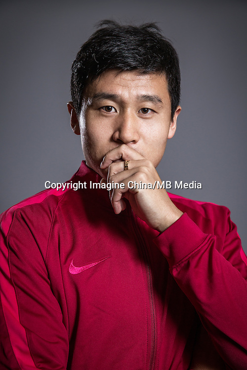 Portrait of Chinese soccer player Lu Qiang of Liaoning Whowin F.C. for the 2017 Chinese Football Association Super League, in Foshan city, south China's Guangdong province, 24 January 2017.