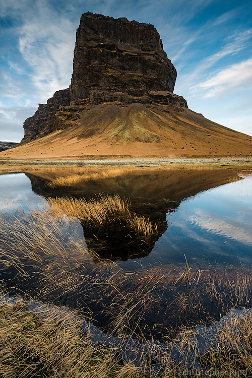 Mount Lómagnúpur (688m high) west of Núpsvötn by Skeiðarársandur, Southeast Iceland.
