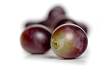 Studio shot of grapes on white background