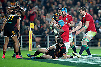 Rugby Union - 2017 British & Irish Lions Tour of New Zealand - Chiefs vs. British & Irish Lions<br /> <br /> Jack Nowell of The British and Irish Lions scores his second try at FMG Stadium Waikato, Hamilton.<br /> <br /> COLORSPORT/LYNNE CAMERON