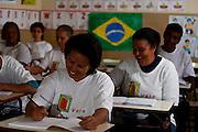 Barao de Cocais_MG,..Programa de alfabetizacao de idosos em Barao de Cocais, Minas Gerais...Literacy program for seniors in Barao de Cocais, Minas Gerais...Foto: BRUNO MAGALHAES / NITRO