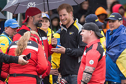 Prince Harry chats with Canadian competitors as he attends the Archery finals of the Invictus Games in Toronto, ON, Canada, on Friday September 29, 2017. Photo by Chris Young/CP/ABACAPRESS.COM