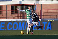 26th December 2017, Dens Park, Dundee, Scotland; Scottish Premier League football, Dundee versus Celtic; Dundee's Jack Lambert goes past Celtic's Callum McGregor