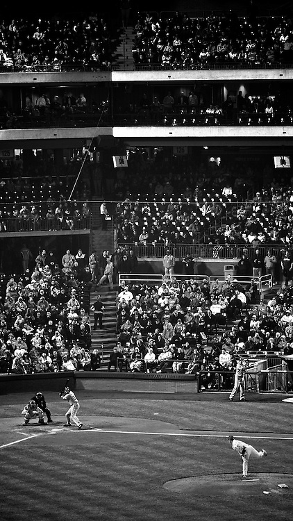 Citizens Bank Park, Sout Philadelphia PA, USA - April 4 2011; Cold night at the Phillies ballpark..(part of experimental editorial series)
