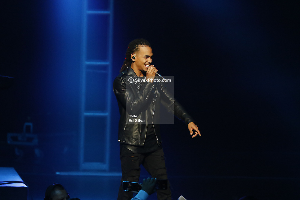 LOS ANGELES, CA - JULY 22: Ozuna performs live on stage at The Microsoft Theater in support of his ODISEA World Tour 2017 on July 22, 2017 in Los Angeles, California. Byline, credit, TV usage, web usage or linkback must read SILVEXPHOTO.COM. Failure to byline correctly will incur double the agreed fee. Tel: +1 714 504 6870.
