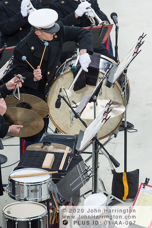 """Members of the """"Presidents Own"""" United States Marine Band at the 57th Presidential Inauguration of President Barack Obama at the U.S. Capitol Building in Washington, DC January 21, 2013."""