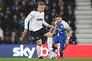 Derby County forward Martyn Waghorn on the ball during the EFL Sky Bet Championship match between Derby County and Wigan Athletic at the Pride Park, Derby, England on 5 March 2019.