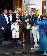 Utrecht, 18-05-2015 <br /> <br /> QueenMaxima attend the Prince Claus Chair Ceremony<br /> and got congratulations for her 44th birthday.<br /> <br /> <br /> Photo:Royalportraits Europe/Bernard Ruebsamen