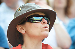 LONDON, ENGLAND - Thursday, June 25, 2009: Centre Court reflected in the sun glasses of a female tennis fan during the Gentlemen's Singles 2nd Round match on day four of the Wimbledon Lawn Tennis Championships at the All England Lawn Tennis and Croquet Club. (Pic by David Rawcliffe/Propaganda)