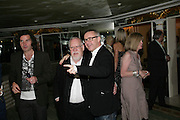 PETER BLAKE AND DAMIEN HIRST, Beyond Belief-Damien Hirst. White Cube Hoxton and Mason's Yard.Party  afterwards at the Dorchester. Park Lane. 2 June 2007.  -DO NOT ARCHIVE-© Copyright Photograph by Dafydd Jones. 248 Clapham Rd. London SW9 0PZ. Tel 0207 820 0771. www.dafjones.com.