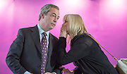 © Licensed to London News Pictures. 24/03/2015. Folkstone, UK. NIGEL FARAGE speaks to an aide.  Harriet Yeo has been named as Ukip's new Folkestone and Hythe general election candidate following the expulsion of Janice Atkinson over allegations of an inflated expenses claim.. Photo credit : Stephen Simpson/LNP