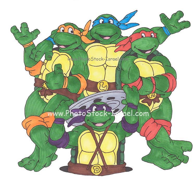 Kwabanga! - Teenage mutant ninja turtles fan art markers on paper