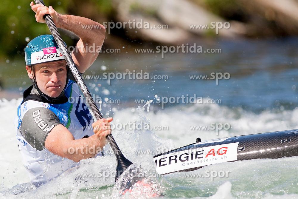 during Kayak(K1) Man qualifications race at ICF Canoe Slalom World Cup Sloka 2013, on August 16, 2013, in Tacen, Ljubljana, Slovenia. (Photo by Urban Urbanc / Sportida.com)