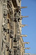 France. Paris.  Saint Eustache church  facade with gargoyls
