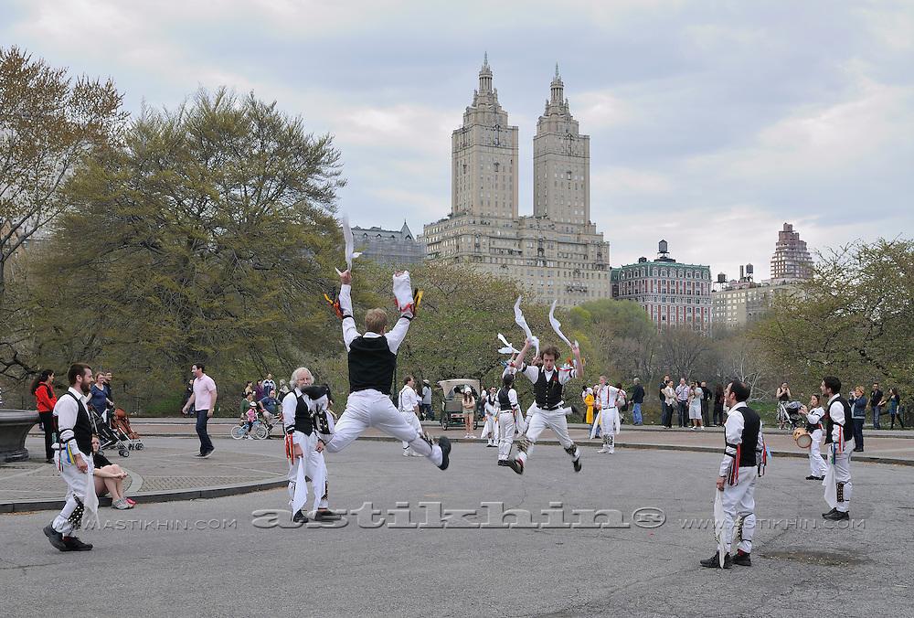 Morris Dancers in Central Park Manhattan.