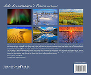 PRODUCT: Book (back cover)<br /> TITLE: Mike Grandmaison's Prairie and Neyond<br /> CLIENT: Turnstone Press