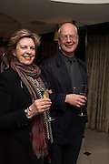 DANUSIA SCHEJBAL;  ANDRZEJ KLIMOWSKI, David Campbell Publisher of Everyman's Library and Champagen Bollinger celebrate the completion of the Everyman Wodehouse in 99 volumes and the 2015 Bollinger Everyman Wodehouse prize shortlist. The Archive Room, The Goring Hotel. London. 20 April 2015.