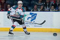 KELOWNA, CANADA -FEBRUARY 5: Rourke Chartier #14 of the Kelowna Rockets skates against the Red Deer Rebels on February 5, 2014 at Prospera Place in Kelowna, British Columbia, Canada.   (Photo by Marissa Baecker/Getty Images)  *** Local Caption *** Rourke Chartier;