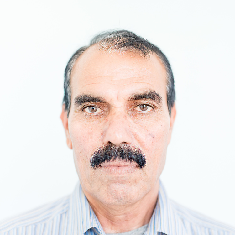 Elias Khadeda Ishmail a 54 year old Yazidi from Siba Sheikh Khidir, northern Iraq.<br /> <br /> <br /> <br /> This is a series of portraits of Yazidi refugees who were stranded since April 2016 in Greece.  All of them survived the Yazidi Genocide by ISIS in August 2014 and most of them have lost family members.