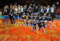 18.09.2011, Stadthalle, Wien, AUT, CEV, Europaeische Volleyball Meisterschaft 2011, Finale, Italien vs Serbien, im Bild Serbien Volleyball Europameister  // during the european Volleyball Championship Final Italy vs Serbia, at Stadthalle, Vienna, 2011-09-18, EXPA Pictures © 2011, PhotoCredit: EXPA/ M. Gruber