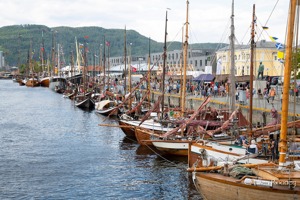 A wooden boat festival in Trondheim, Trondelag,  Norway, Europe