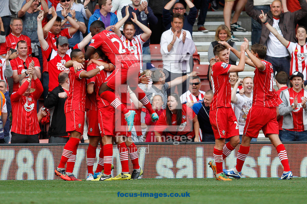 Picture by Daniel Chesterton/Focus Images Ltd +44 7966 018899.22/09/2012.Rickie Lambert of Southampton celebrates after scoring his sides fourth goal during the Barclays Premier League match at the St Mary's Stadium, Southampton.