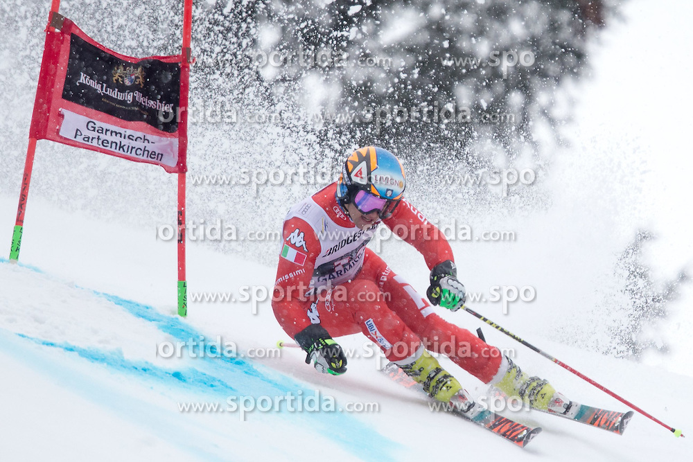 01.03.2015, Kandahar, Garmisch Partenkirchen, GER, FIS Weltcup Ski Alpin, Riesenslalom, Herren, 1. Lauf, im Bild Roberto Nani (ITA) // Roberto Nani of Italy in action during 1st run for the men's Giant Slalom of the FIS Ski Alpine World Cup at the Kandahar course, Garmisch Partenkirchen, Germany on 2015/03/01. EXPA Pictures © 2015, PhotoCredit: EXPA/ Johann Groder