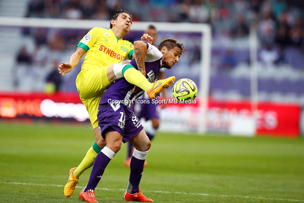 Oscar Trejo / Alejandro Bedoya - 25.04.2015 - Toulouse / Nantes - 34eme journee de Ligue 1<br />Photo : Manuel Blondeau / Icon Sport