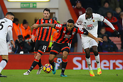 Callum Wilson of Bournemouth on the attack, under pressure by Abdoulaye Doucoure of Watford - Mandatory by-line: Jason Brown/JMP - 21/01/2017 - FOOTBALL - Vitality Stadium - Bournemouth, England - Bournemouth v Watford - Premier League