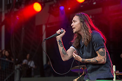 May 25, 2018 - Napa, California, U.S - BRANDON BOYD of Incubus during BottleRock Music Festival at Napa Valley Expo in Napa, California (Credit Image: © Daniel DeSlover via ZUMA Wire)