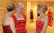 (left to right) Wearing dresses from Lillian's, Olivette Reese, from Centerville; Sharon Howley, from Kettering and Kriston Kissell, from Kettering talk at the 2007 Wellness Connection Red Dress Gala, at the Schuster Performing Arts Center in Dayton, Saturday night, May 5th.