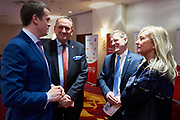 Warsaw, Poland - 2017 March 12: (L-R) Witold Banka Minister of Sports Departament and Andrzej Krasnicki President of Polish Olympic Committee and Krzysztof Krukowski Special Olympics Europe Eurasia and Katarzyna Frank Niemczycka former President of Special Olympics Poland while Nomination Ceremony of Special Olympics Polish National Team before the Special Olympics World Winter Games Austria  2017 at Marriott Hotel on March 12, 2017 in Warsaw, Poland.<br /> <br /> Mandatory credit:<br /> Photo by &copy; Adam Nurkiewicz / Mediasport<br /> <br /> Adam Nurkiewicz declares that he has no rights to the image of people at the photographs of his authorship.<br /> <br /> Picture also available in RAW (NEF) or TIFF format on special request.<br /> <br /> Any editorial, commercial or promotional use requires written permission from the author of image.<br /> <br /> Image can be used in the press when the method of use and the signature does not hurt people on the picture.
