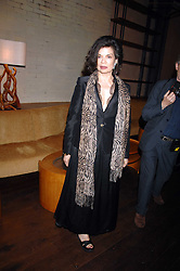 BIANCA JAGGER at a party to celebrate the launch of Cavalli Selection - the first ever wine from Casa Cavalli, held at 17 Berkeley Street, London W1 on 29th May 2008.<br />