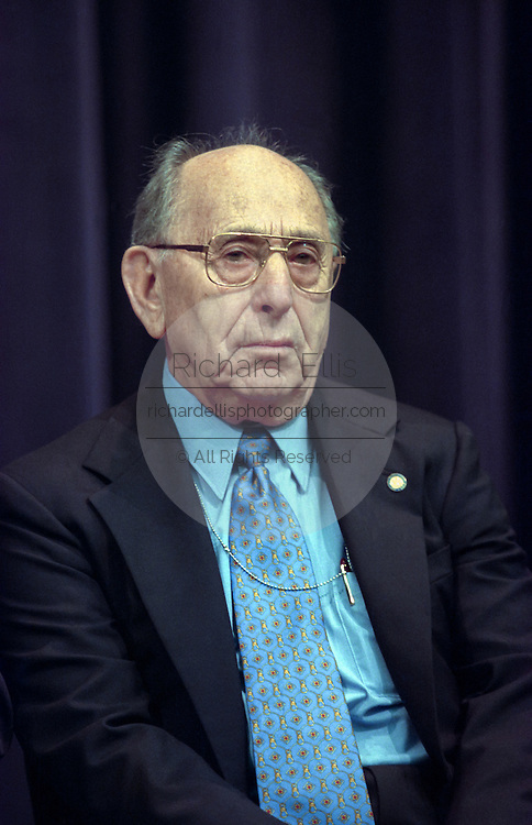 Holocaust Museum Chairman Miles Lerman at the opening ceremony for the Conference on Holocaust-Era Assets at the U.S Holocaust Museum November 30, 1998 in Washington, DC.