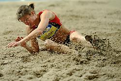 06-02-2010 ATLETIEK: NK INDOOR: APELDOORN<br /> Karin Ruckstuhl wint het verspringen<br /> ©2010-WWW.FOTOHOOGENDOORN.NL