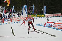 Lars Berger (NOR) wins the World Cup Biathlon men's Sprint Competition on March 13, 2009