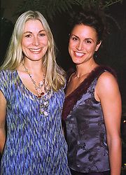 Left to right, art dealer REBECCA HOSSACK and MRS ROGER ROCKFORD-DAVIES her husband is the manager of singer Tina Turner, at a dinner in London on 6th October 1998.MKN 48