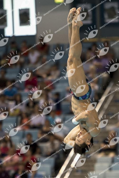 CAO Yuan CHN<br /> FINA/NVD Diving World Series - 3 m. sprinboard Women<br /> Hamdan Bin Rashid Bin Mohammed Sport Complex<br /> Dubai 19 - 21  March 2015<br /> Day 2 - March 20 th <br /> Photo Giorgio Scala / Deepbluemedia